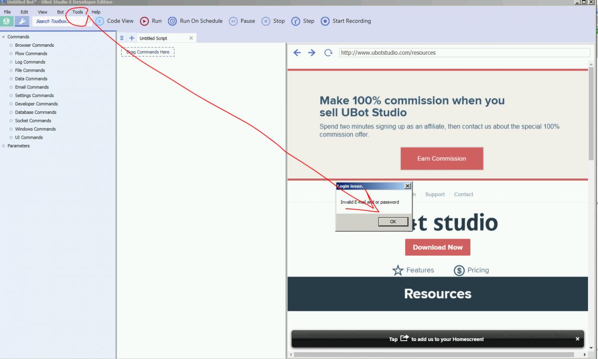 ubot studio developer edition cracked screen